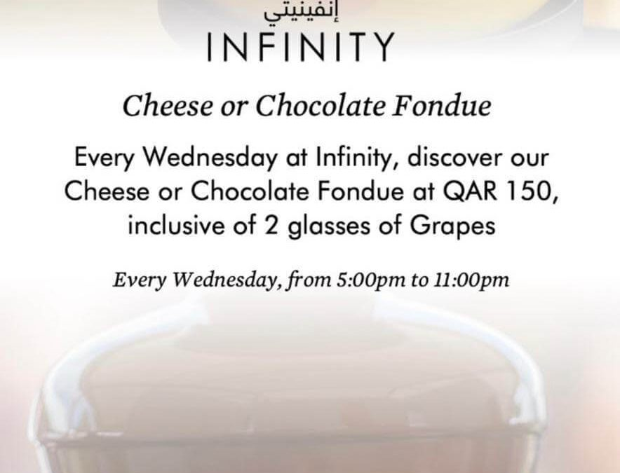 Cheese or Chocolate Fondue at Infinity